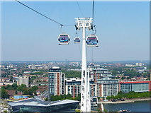 TQ3980 : Looking back to the middle pylon for the cable cars by Shazz