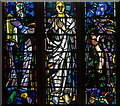 TQ7908 : Chancel stained glass window, St Leonard's church by Julian P Guffogg