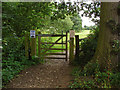 TQ0052 : Gate to the Riverside wildlife area by Alan Hunt