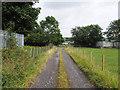 NZ1534 : Farm road near to Crook Industrial Estate by Trevor Littlewood