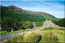 NY1717 : Buttermere Church and Scales Fell beyond by Peter Skynner