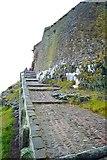 NU1341 : Lindisfarne Castle entrance ramp Holy Island by Peter Skynner
