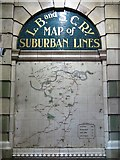 TQ2879 : LBSCR Map of Suburban Lines, Victoria Station by Mike Quinn