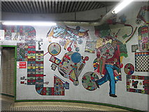 TQ2981 : Tottenham Court Road tube station - Paolozzi mosaic, lower hall (3) by Mike Quinn