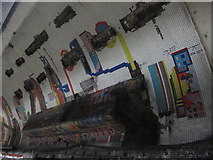 TQ2981 : Tottenham Court Road tube station - Paolozzi mosaic, Central Line (4) by Mike Quinn