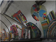 TQ2981 : Tottenham Court Road tube station - Paolozzi mosaic, Central Line (8) by Mike Quinn