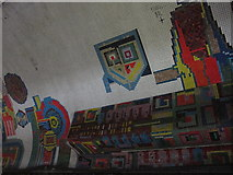 TQ2981 : Tottenham Court Road tube station - Paolozzi mosaic, Central Line (13) by Mike Quinn