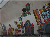 TQ2981 : Tottenham Court Road tube station - Paolozzi mosaic, Central Line (15) by Mike Quinn