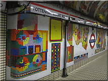TQ2981 : Tottenham Court Road tube station - Paolozzi mosaic, Central Line (16) by Mike Quinn