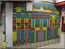 TQ2981 : Tottenham Court Road tube station - Paolozzi mosaic, Central Line (22) by Mike Quinn