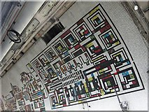 TQ2981 : Tottenham Court Road tube station - Paolozzi mosaic, Northern Line (2) by Mike Quinn