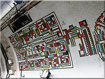 TQ2981 : Tottenham Court Road tube station - Paolozzi mosaic, Northern Line (11) by Mike Quinn
