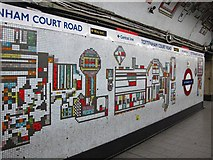 TQ2981 : Tottenham Court Road tube station - Paolozzi mosaic, Northern Line (14) by Mike Quinn