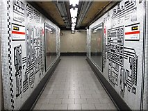 TQ2981 : Tottenham Court Road tube station - Paolozzi mosaic, Northern Line (17) by Mike Quinn