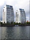 SJ8097 : Residential blocks at Salford Quays by Rod Allday