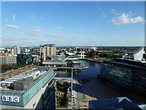 SJ8097 : A view of Salford Quays from MediaCityUK by Rod Allday
