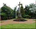 SP2054 : Memorial Cross in the Garden of Rest, Stratford-upon-Avon by Jaggery