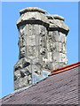 SJ1158 : Twin chimneys on Ruthin Drill Hall/Youth Centre by John S Turner