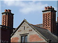 SJ3758 : Chimneys at Grosvenor Pulford Hotel by Richard Hoare