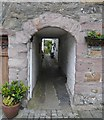 NX6850 : 'The Wicker Man' Filming Locations: An Alleyway Off High Street, Kirkcudbright by James T M Towill