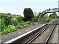 SU6635 : Platform and Footbridge, Medstead and Four Marks Railway Station by David Dixon