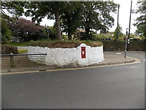 SM7525 : Red postbox in a white wall, St David's by Jaggery