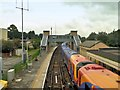 SU7239 : Alton Railway Station, Platforms 1 and 2 and Passenger Footbridge by David Dixon