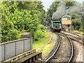 SU7239 : The Watercress Line, Signal Box at Alton by David Dixon