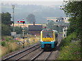 SO4383 : Southbound train approaching Craven Arms by Gareth James