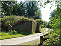 TF7124 : Former railway bridge buttress near Congham by Richard Humphrey