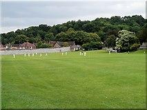SU4828 : Playing Field, The Pilgrims' School, Winchester by David Dixon
