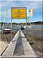 SH7877 : Jetty at Conwy Marina by Gerald England