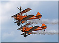 NT5578 : Breitling Wingwalkers at East Fortune Airshow by William Starkey