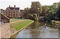 TL4458 : Cambridge: up the River Cam at the Backs, past King's College, 1990 by Ben Brooksbank