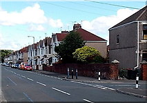 ST3186 : Mendalgief Road houses NNW of Wingate Street, Newport by Jaggery