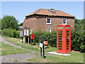 SK7759 : Telephone Kiosk and postbox at Bathley by Alan Murray-Rust