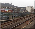 ST0498 : Iceland store viewed from Mountain Ash railway station by Jaggery