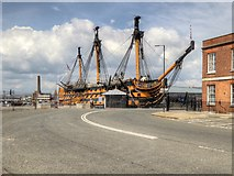 SU6200 : Portsmouth Historic Naval Dockyard, HMS Victory by David Dixon