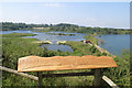 SP9314 : College Lake - Panorama Board looking West by Chris Reynolds