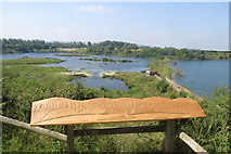 SP9314 : College Lake - Panorama Board looking West by Chris Reynolds