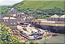 SW9980 : Port Isaac harbour, 1996 by Ben Brooksbank