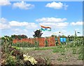 SP6607 : Indian Flag on the Allotment by Des Blenkinsopp