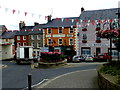 H4472 : Red and white bunting, Omagh by Kenneth  Allen