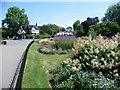 TQ2283 : Flower beds in Roundwood Park by Marathon