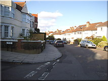 TQ2075 : Temple Sheen Road at the junction of Coval Road by David Howard