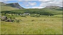 SH5752 : Welsh Highland Railway view approaching Rhyd Ddu by Chris Morgan