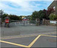 SM7525 : Ysgol Bro Dewi entrance gates, St David's by Jaggery