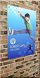 TL5124 : Forest Cafe sign at Forest Hall School by Adrian Cable