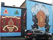 J3274 : The 'C' Company, 1st Batt (West Belfast) UVF murals in Carnan Street by Eric Jones