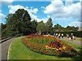 TQ1873 : Flower bed in Richmond Park by Malc McDonald